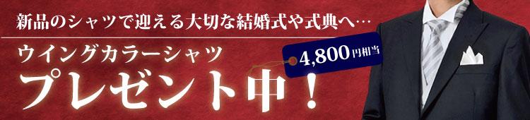 4,800円相当のウィングカラーシャツプレゼント中!!