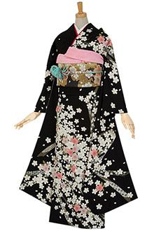 R073 【訳あり】黒 しだれ桜☆(絹)