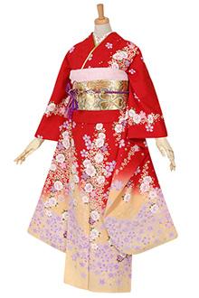 R1070 赤 桜☆(S)(絹)