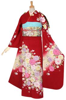 R1073 赤 桜☆(絹)(宅)