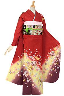 R109 赤 桜と手鞠☆(絹)(s)