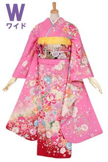 R1105 ピンク 牡丹と桜(絹)(w)