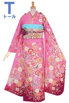 R1112 ピンク 桜牡丹に熨斗☆(絹)