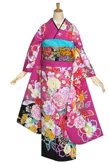 R1122 ピンク 薔薇とカラーのブーケ☆(F)(絹)(宅)