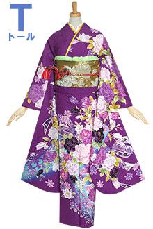 R1236 紫 薔薇とリボン☆(R1235)(絹)(宅)