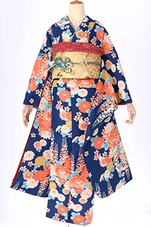 R1263 青 菊と藤の花