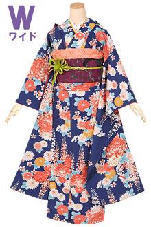 R1265 青 菊と藤の花(W)