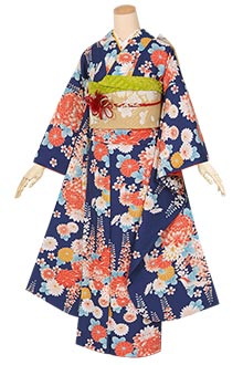 R1266 青 菊と藤の花(S)