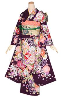 R1290 【訳あり】紫 鞠に花くす玉(絹)