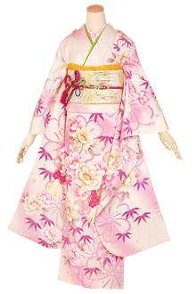 R1307 アイボリー 桜くす玉☆(絹)(宅)