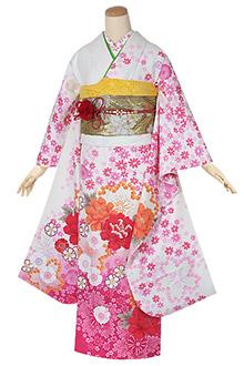 R1315 白 乙女な牡丹桜 ☆(S)(絹)