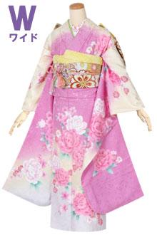 R1341 ピンク 桜に菊☆(絹)(w)