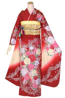 R1386 赤 薔薇とティアラ☆(絹)(宅)