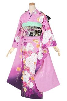 R1396 ピンク 薔薇の煌き☆(絹)(宅)