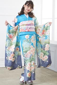 R1488 水色 桜松藤(絹)