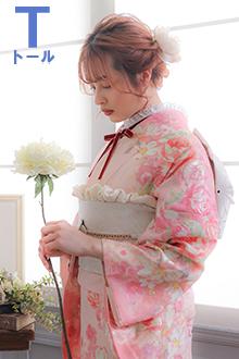R1491 ピンク 薔薇尽し(絹)