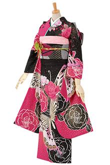 R1500 【訳あり】ピンク 薔薇と蝶(R391)