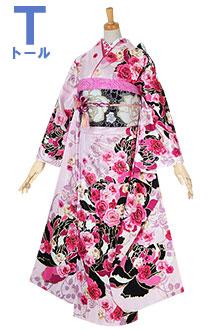 R1523 ピンク 牡丹と薔薇☆(F)(絹)