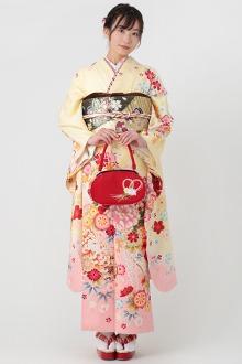 R1557 黄色 可愛い牡丹花☆(絹)