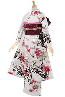 R1570 【訳あり】白 牡丹に洋花(R395)