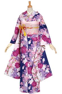 R1572 【訳あり】紺 牡丹と桜のブーケ(R645)