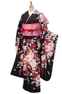 R1575 【訳あり】黒 椿と花の調べ(R295)