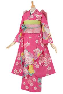 R1582 【訳あり】ピンク 牡丹薬玉と梅(R394)
