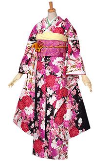 R1588 【訳あり】黒 牡丹と桜のブーケ☆(R642)