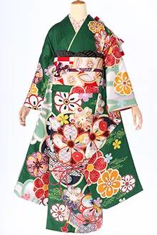 R1592 緑 菊桜