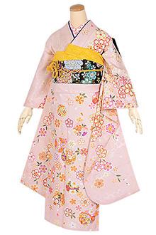 R1660 淡ピンク 桜に手毬☆(絹)(s)