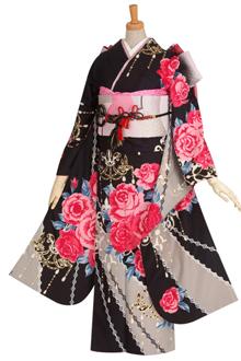 R1682 【訳あり】黒 薔薇とシャンデリア☆(R392)