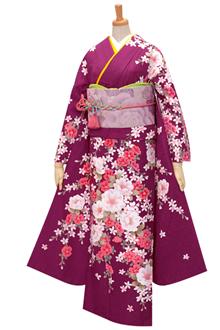 R1767 【訳あり】紫 椿と花の調べ(R308)☆