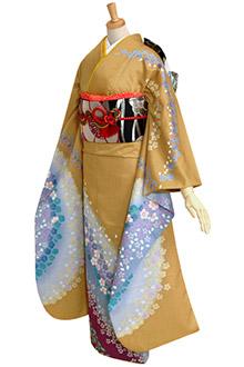 R178 芥子 桜と梅花びらブルーぼかし☆(R666)