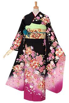 R1896 【訳あり】黒 枝垂桜(絹)(R872)