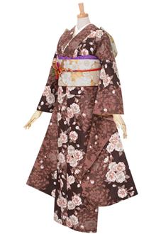 R190 【訳あり】茶色 大菊と八重桜