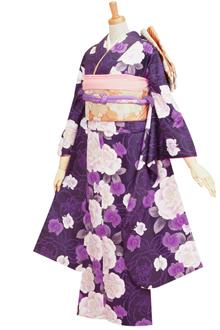 R262 【訳あり】紫 大輪の牡丹と蘭☆