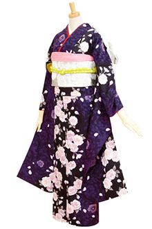 R264 【訳あり】黒 紫の大菊と八重桜☆