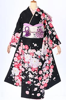 R300 黒 白牡丹と八重桜(R1765)