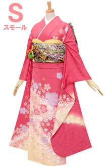 R318 【訳あり】ピンク 桜吹雪☆(絹)(SS)
