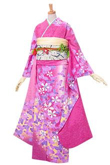 R343 ピンク ハート桜☆(絹)