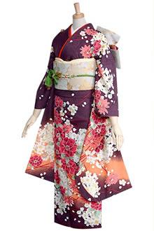 R359 【訳あり】濃茶紫 桜ブーケ(R236)☆