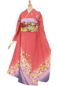 R375 ピンク 小手鞠に小桜☆(絹)