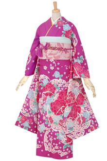 R418 赤紫 薔薇&薔薇(振/HL)(R1693)