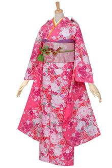 R425 ピンク 牡丹に小桜