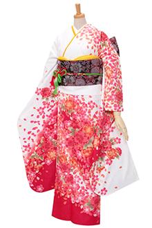 R438 【訳あり】白 濃いピンク 桜づくし(R306)