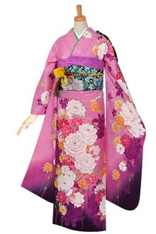 R563 ピンク 薔薇の煌き☆(絹)