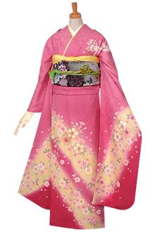 R596 【訳あり】ピンク 桜☆(絹)