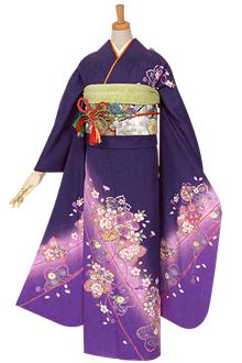 R612 紫 桜と鞠☆(絹)(宅)