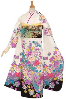 R622 【訳あり】白 牡丹と百合のブーケ☆(絹)