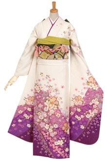 R625 白 絞り桜花☆(絹)